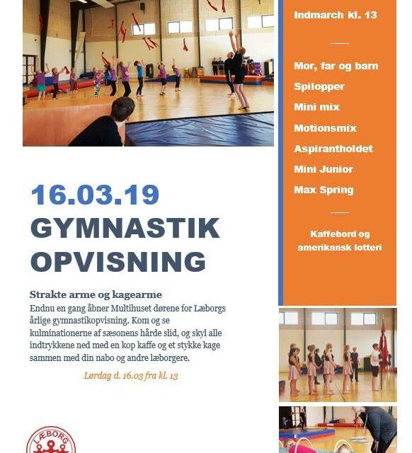 Gymnastikopvisning 2019