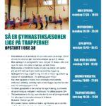 Opstart af gymnastik i uge 38