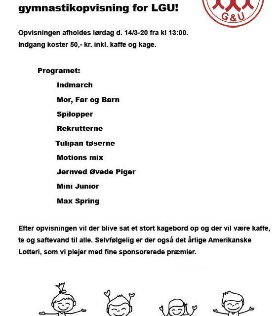 Gymnastikopvisning 14.03.20 kl. 13